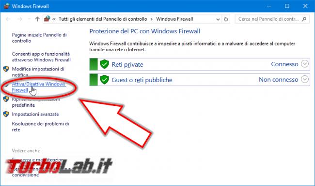Guida Windows 10: come configurare Windows Firewall permettere accesso cartelle file condivisi rete locale (LAN)