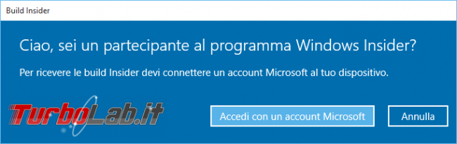"""Guida Windows 10: come diventare """"Windows Insider"""" ricevere aggiornamenti anteprima"""