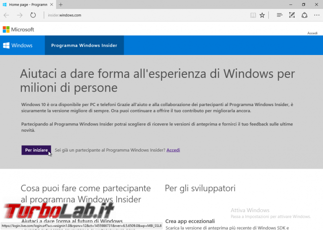 "Guida Windows 10: come diventare ""Windows Insider"" ricevere aggiornamenti anteprima - Microsoft edge windows insider"
