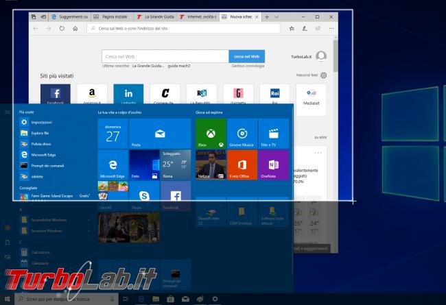Guida Windows 10: come fotografare schermo (salvare/catturare screenshot) senza installare programmi aggiuntivi