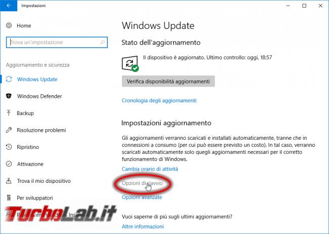 Guida Windows 10: come impedire riavvio automatico installazione aggiornamenti