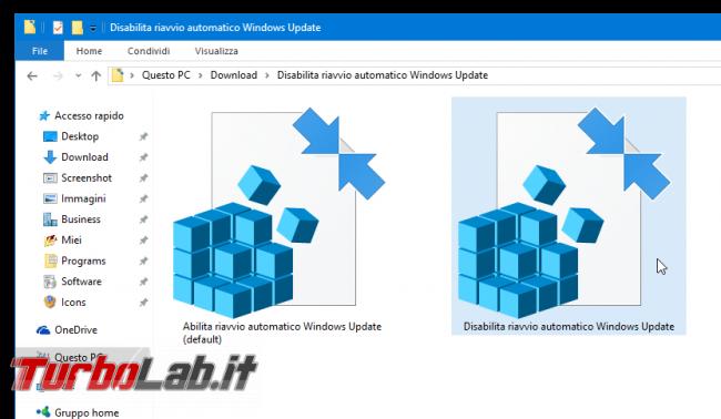 Guida Windows 10: come impedire riavvio automatico installazione aggiornamenti - registri Disabilita riavvio automatico Windows Update
