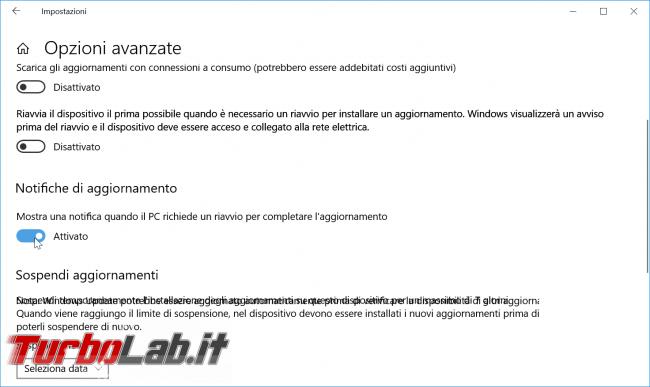 Guida Windows 10: come impedire riavvio automatico installazione aggiornamenti - zShotVM_1554914876