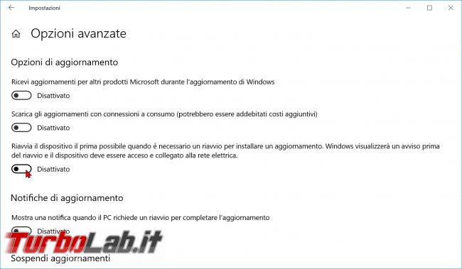 Guida Windows 10: come impedire riavvio automatico installazione aggiornamenti - zShotVM_1554915603
