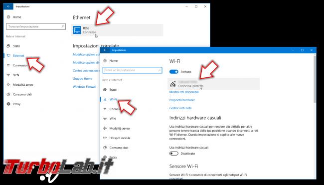 Guida Windows 10: come impostare connessione rete Pubblica Privata rendere PC individuabile rete locale (LAN) - impostazioni rete wifi ethernet