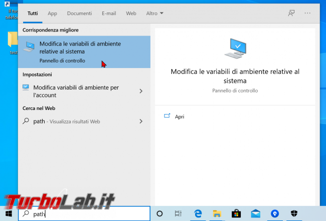 Guida Windows 10: come modificare variabile sistema Path aggiungere cartella (percorso directory variabile ambiente)
