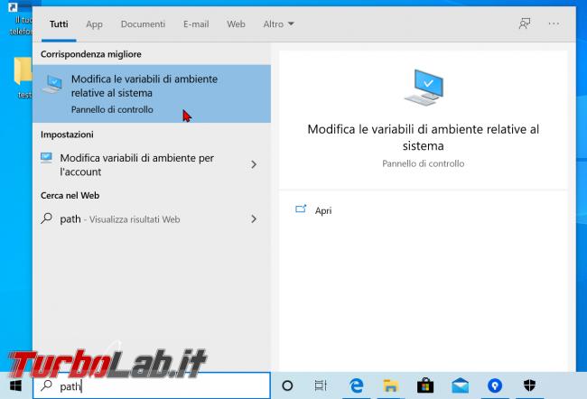 Guida Windows 10: come modificare variabile sistema Path aggiungere cartella (percorso directory variabile ambiente)