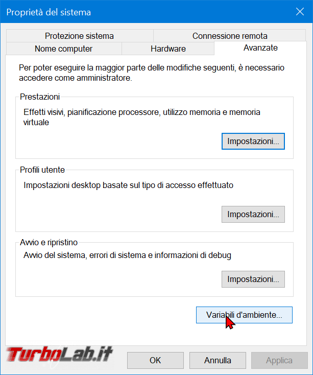Guida Windows 10: come modificare variabile sistema Path aggiungere cartella (percorso directory variabile ambiente) - zShotVM_1582391738