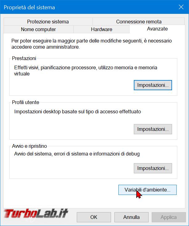 Guida Windows 10: come modificare variabile sistema Path aggiungere cartella (percorso directory variabile ambiente) - zShotVM_1582391738