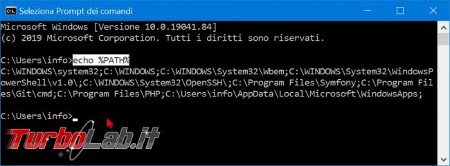 Guida Windows 10: come modificare variabile sistema Path aggiungere cartella (percorso directory variabile ambiente) - zShotVM_1582393691