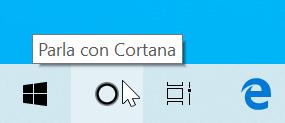 Guida Windows 10: come rimuovere ricerca Cortana Barra applicazioni - pulsante parla con cortana