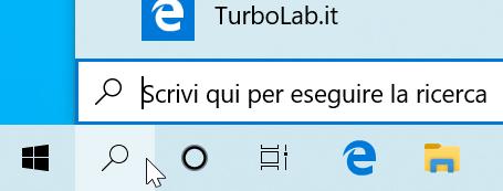 """Guida Windows 10: come rimuovere ricerca (""""Cortana"""") Barra applicazioni - windows 10 barra di ricerca ridotta icona lente"""
