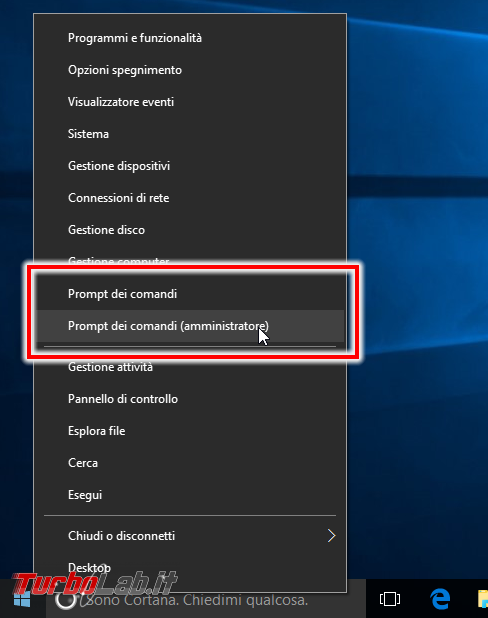 Guida Windows 10: come ripristinare Prompt comandi (cmd) come predefinito posto PowerShell menu Win+X (Start) ed Esplora file (Apri finestra comando qui) - windows 10 prompt comando amministrativo
