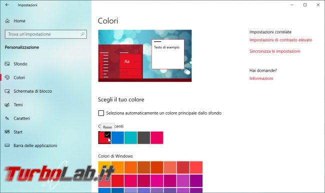 Guida Windows 10: come ripristinare/riattivare bordi colorati finestre - Mobile_zShot_1536348944