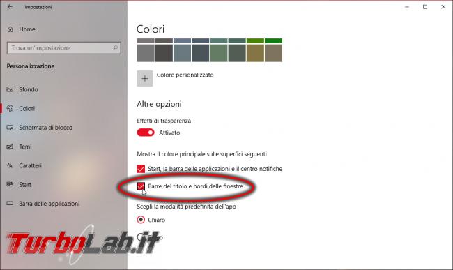 Guida Windows 10: come ripristinare/riattivare bordi colorati finestre - Mobile_zShot_1536348962