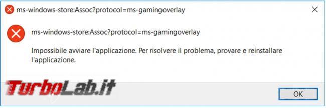 """Guida Windows 10: Come risolvere l'errore """"Avrai bisogno nuova app aprire questo ms-gamingoverlay"""""""