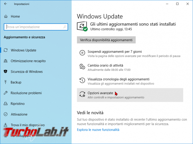 Guida Windows 10: come sospendere/bloccare aggiornamenti Windows Update