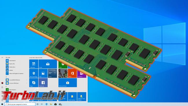 Guida Windows 10: come vedere quanta memoria RAM ha computer (RAM installata PC)