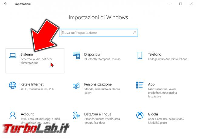Guida Windows 10: come vedere quanta memoria RAM ha computer (RAM installata PC) - windows 10 impostazioni sistema