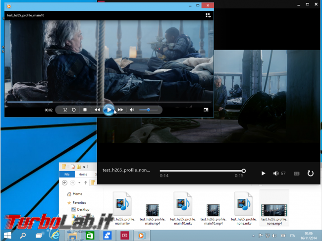 "Guida Windows 10: supporto MKV (""Matroska""), H.265 tutte altre novità ambito audio/video - windows 10 h.265 Windows Media Player"