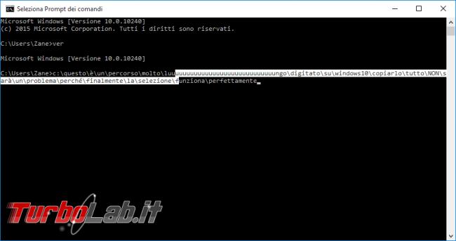 """Guida Windows 10: tutte novità """"Prompt comandi"""" - windows 10 cmd seleziona"""