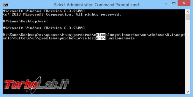 """Guida Windows 10: tutte novità """"Prompt comandi"""" - windows 10 cmd seleziona fail"""