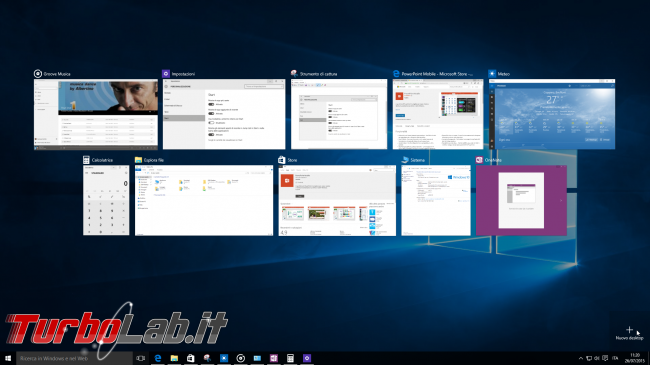 "Guida Windows 10: utilizzare meglio Desktop Virtuali (""Virtual Desktop"") ""Visualizzazione attività"" (""Task view"") - windows 10 add virtual desktop"