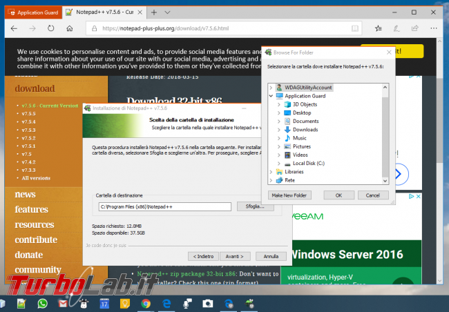 Guida Windows Defender Application Guard Windows 10 Pro navigare web totale sicurezza