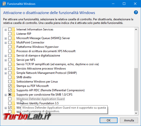 Guida Windows Defender Application Guard Windows 10 Pro navigare web totale sicurezza - Mobile_zShot_1525251108