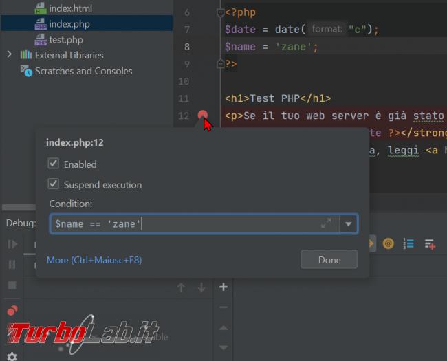 Guida Xdebug phpStorm: installazione, configurazione, breakpoint ed esecuzione step - Guida Definitiva debug PHP - zShotVM_1623491388