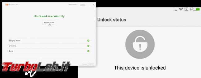 Guida Xiaomi Mi, Redmi, Note, Pro: come ottenere codice MIUI.com sbloccare (unlock) bootloader Android, senza errore Couldn't verify device - Current account is different from the account info on the device
