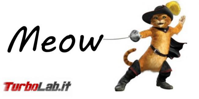"hacker cancella oltre mille database firmandosi ""Meow"""