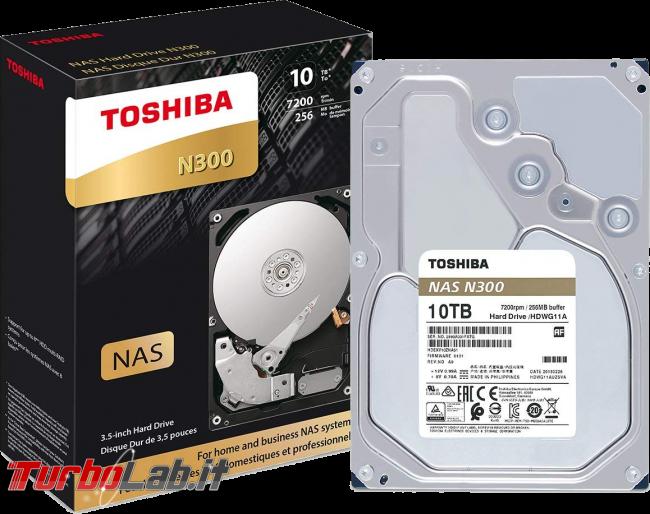 hard disk 10 terabyte NAS PC: recensione prova Toshiba N300 10TB - toshiba n300 hard disk