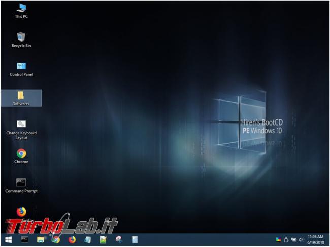 Hiren's BootCD PE supporto avviabile Windows 10 tanti programmi gratuiti utili
