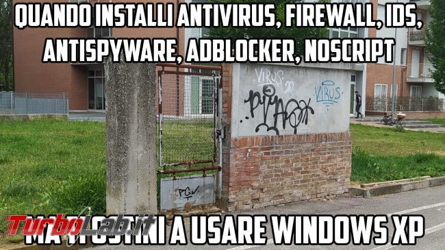 Humour meme informatici, programmatori smanettoni - muro windows xp aperto meme