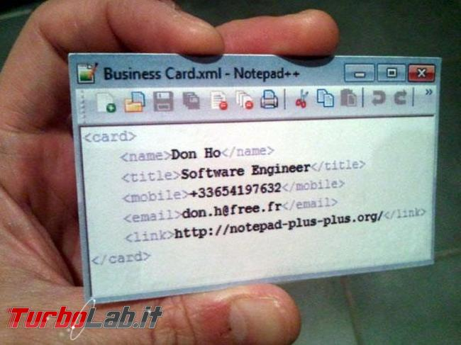 Humour meme informatici, programmatori smanettoni - notepad business card