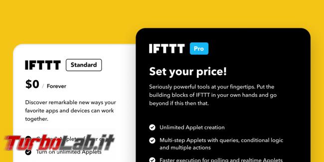 IFTTT Pro: Utenti piede guerra