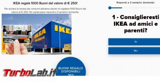 IKEA regala 1000 buoni valore € 250: è truffa vi prosciuga conto! - buono-regalo-IKEA-750x391