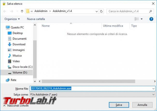 Impedisci l'esecuzione determinati programmi AskAdmin