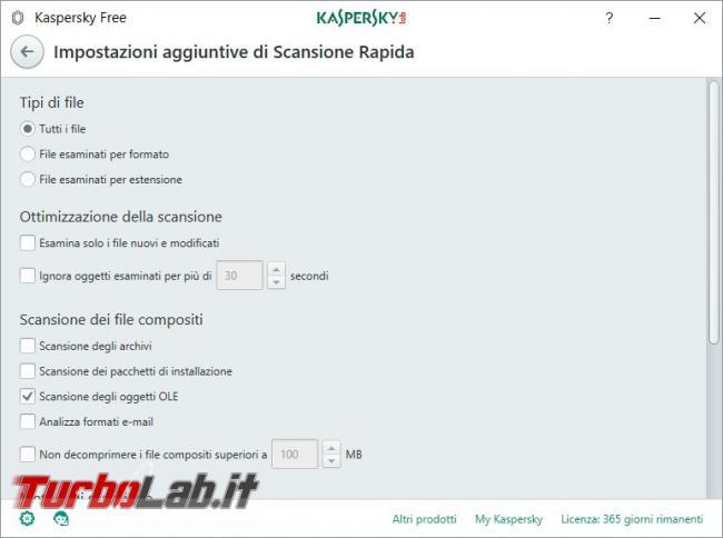 Impostazioni Kaspersky Free: come renderlo efficace qualsiasi PC rischio infezioni