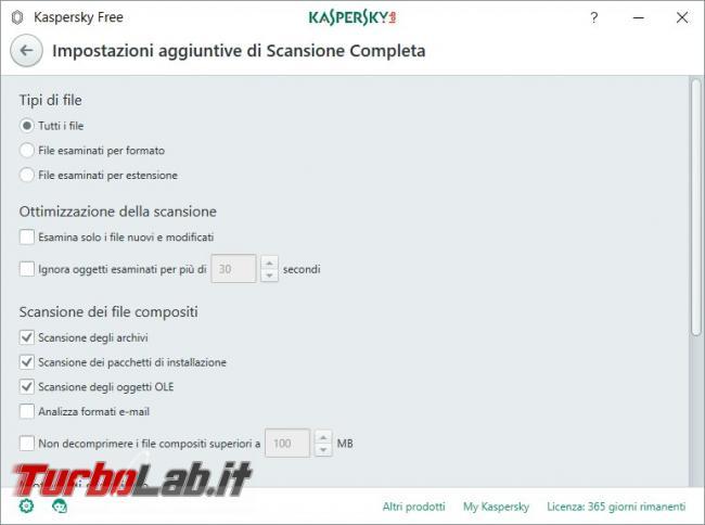 Impostazioni Kaspersky Free: come renderlo efficace qualsiasi PC rischio infezioni - Scansione completa