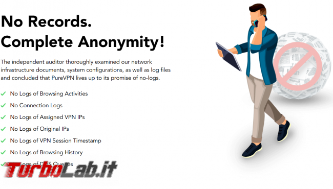 Impressioni prova PureVPN: velocità sicurezza buon servizio VPN anonimo, BitTorrent