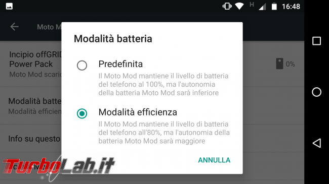 Incipio offGRID Power Pack (Moto Mods): video-prova recensione - Screenshot_20170218-164847