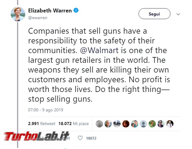 incoerenza Walmart: no videogiochi violenti, sì armi - Annotazione 2019-08-12 083809