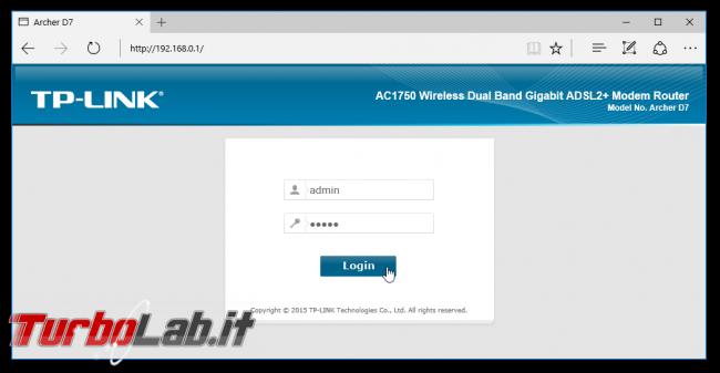 Indirizzo IP MAC Binding: come fare modo PC rete locale (LAN) ottenga sempre stesso IP locale modem/router