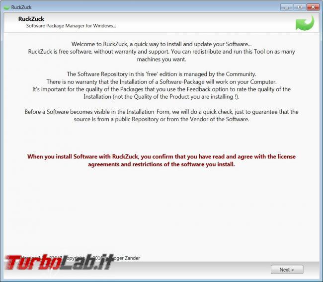 Installa aggiorna programmi maniera quasi automatica RuckZuck