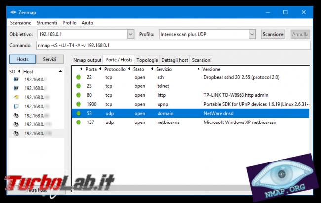 Installare configurare server web: Grande Guida Apache, PHP, MySQL Windows Linux - nmap zenmap spotlight