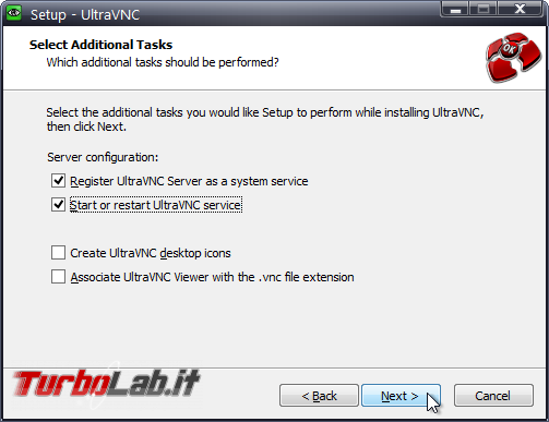 Installare UltraVNC controllare PC Windows remoto