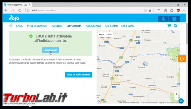 Internet veloce fuori città (alternativa senza L): esperienza EOLO - eolo verifica copertura