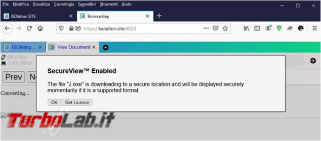 Isolation.site permette verificare link sospetti browser remoto